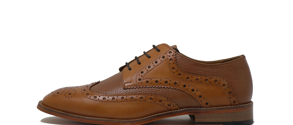 Adelmo Tan Comb Derby Shoes