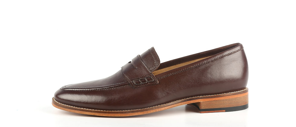 Raffa Brown Leather Loafer