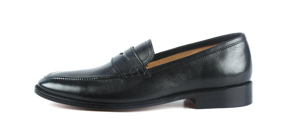 Raffa Black Leather Loafer