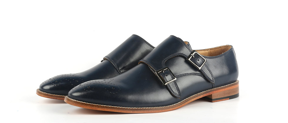 Harvey Blue Double Monk Strap