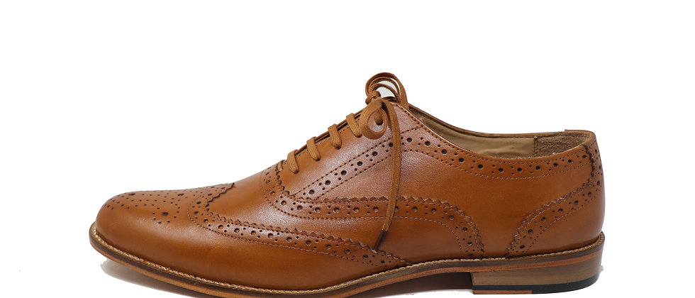 English Tan Brogue Oxford