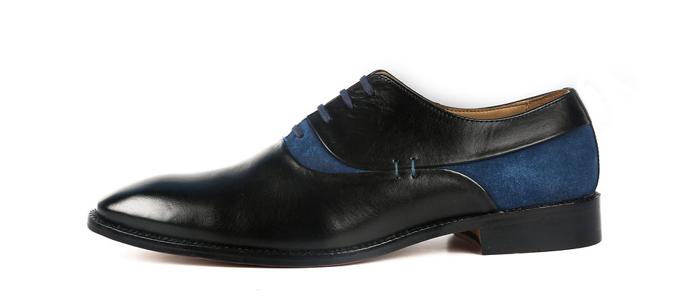 Adolfo Blue Black Oxford Shoes