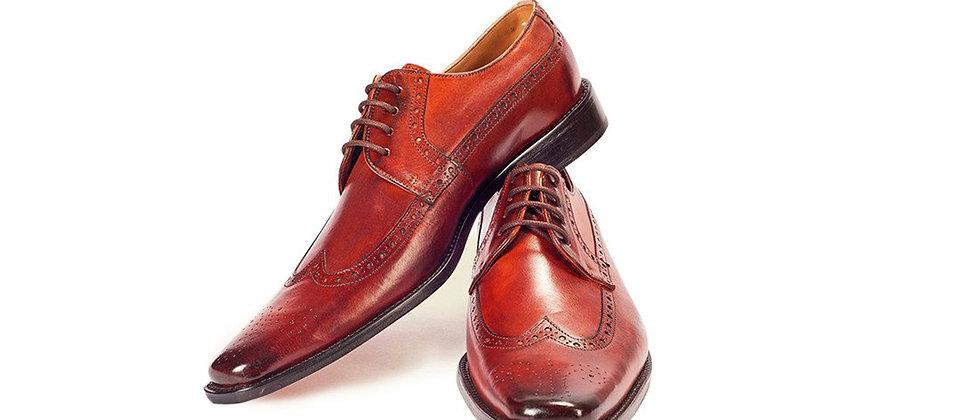 Leo Orange Brown Derby Shoes
