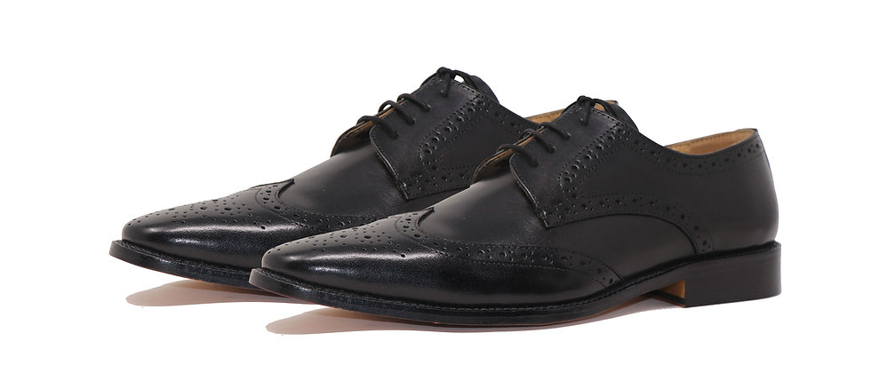 Gerardo Black Brogue Derby