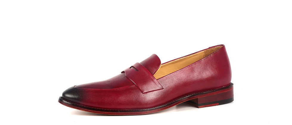 Milagro Wine Blind Stitch Loafer   Loafer