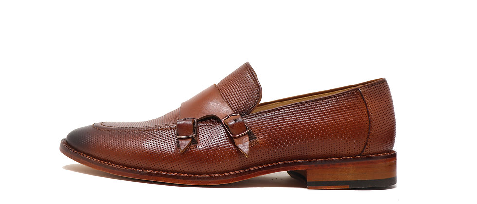 Kaiser Brown Double Strap Loafer