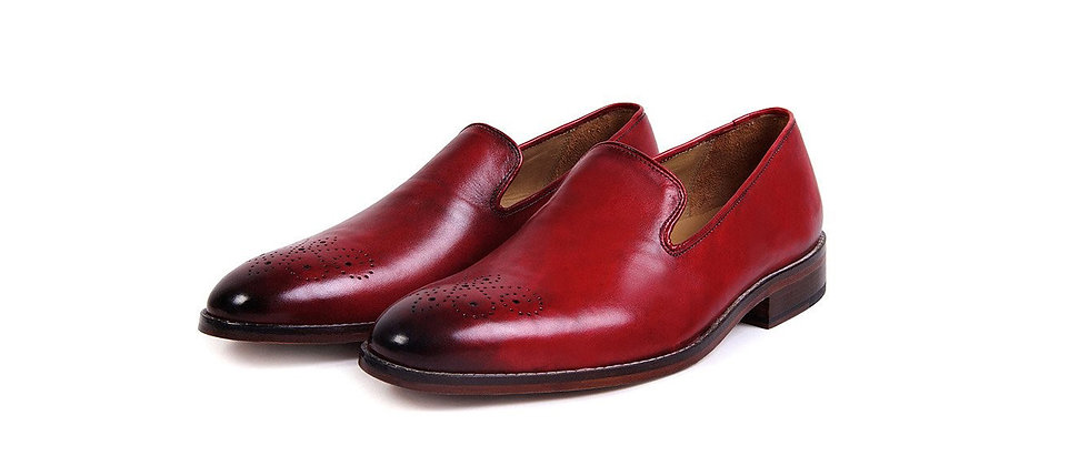 Lucida Red Wine  Loafer Shoes