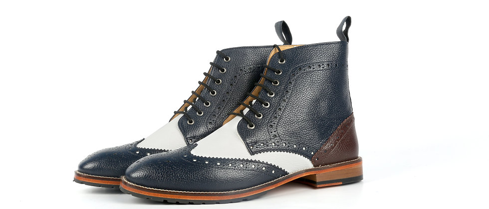 HOBB LaceOn Brogue Bootss  Bootss
