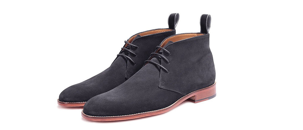 Marcus Suede Grey Ankle Boots