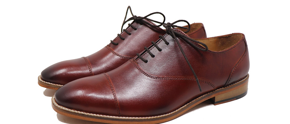 Paco Brown Toe Cap Oxford Shoes