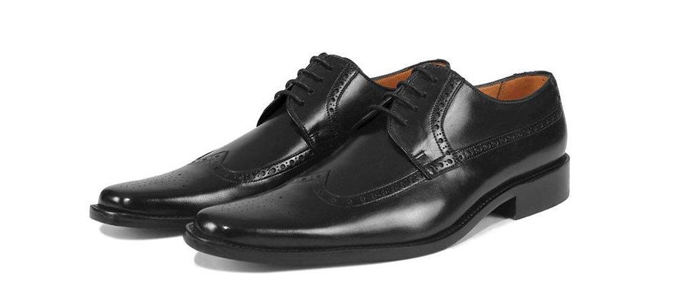 Leo Black Derby Shoes