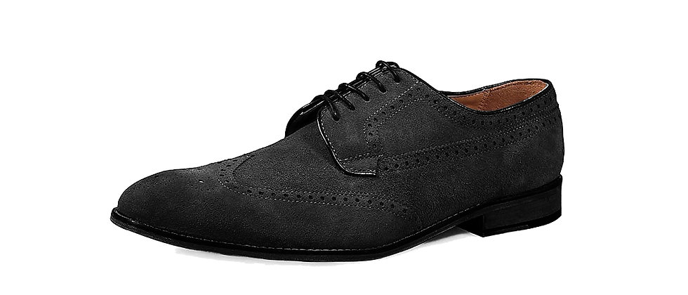Wayne Black Suede Derby