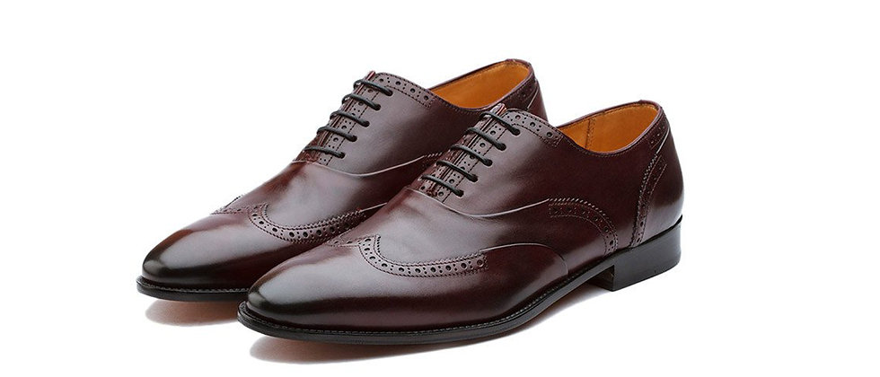 Paco Burgundy Party Oxford Shoes