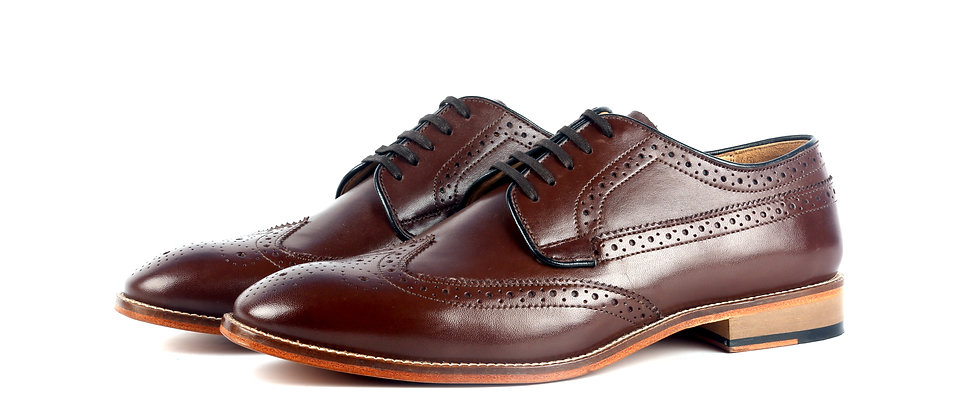 Becca Brogue Brown Derby Shoes