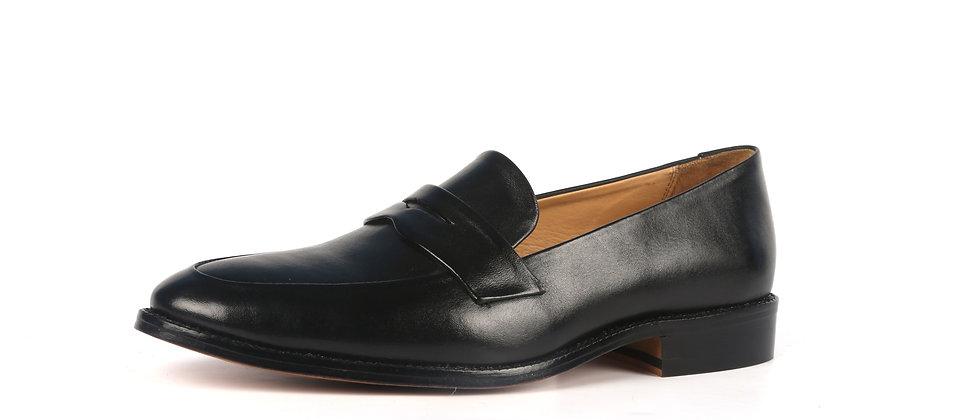 Milagro Black Blind Stitch Loafer   Loafer