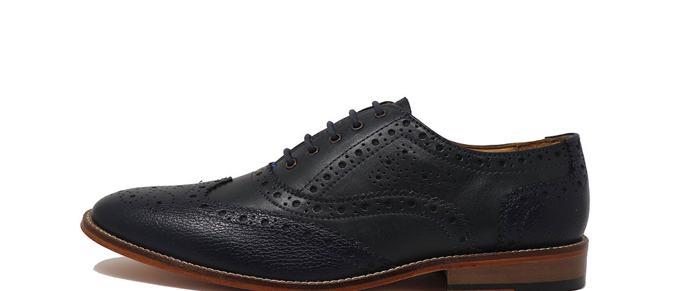 Adermo Blue Oxford Shoes