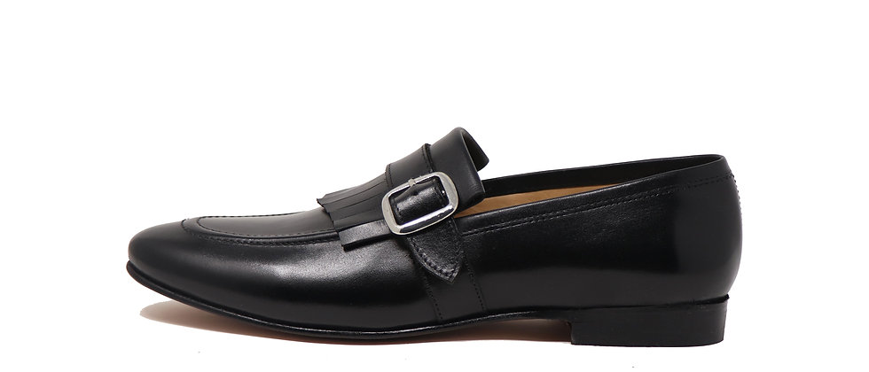 Jugar Kelt Black Low Heel Loafer