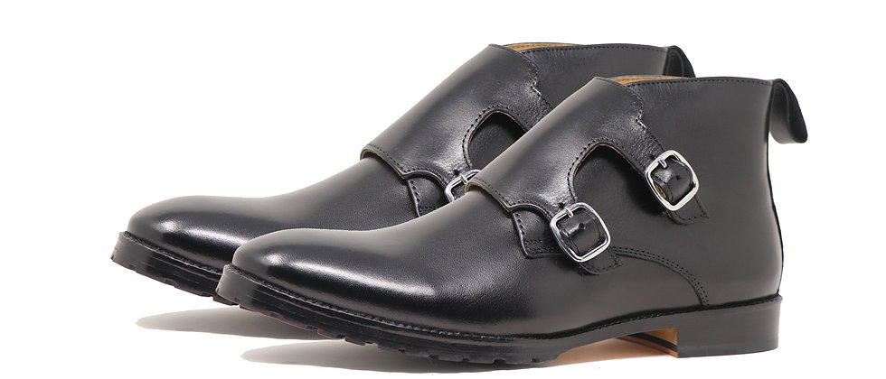 JAZZ Double Strap Black Boots