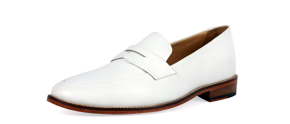 Milagro White Blind Stitch Loafer   Loafer