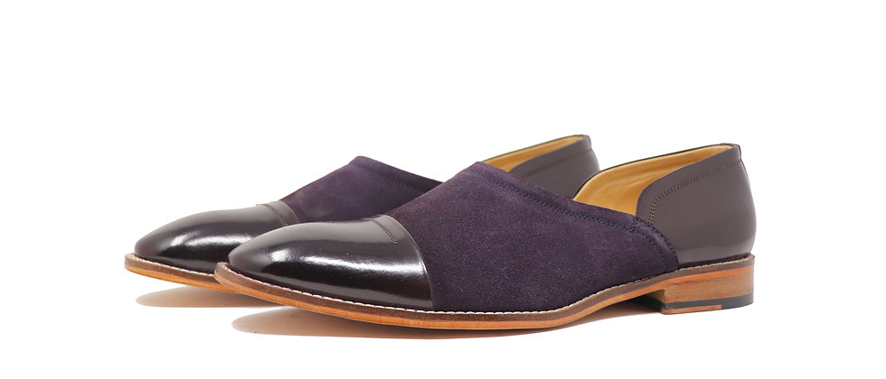 Mandy Purple Combination Nagra Slipon