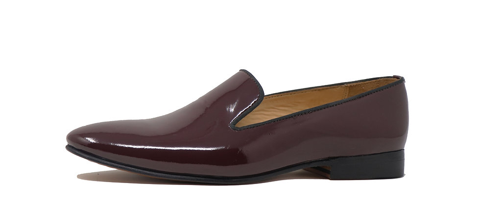 Lujo Brown Patent Party Loafer