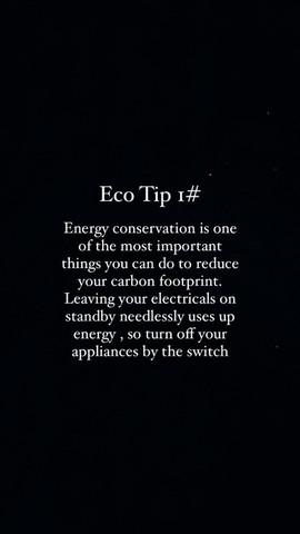 Eco Tip 1