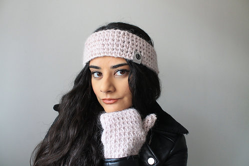 Bleikur Winter Headband and Gloves Set