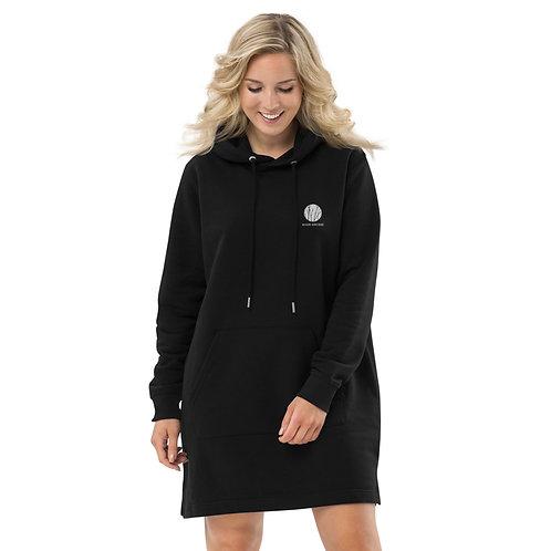 Woman Black Hoodie Dress