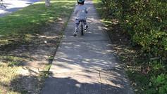 Enjoying a nice bike ride in the North Shore