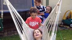 He's loving this hammock