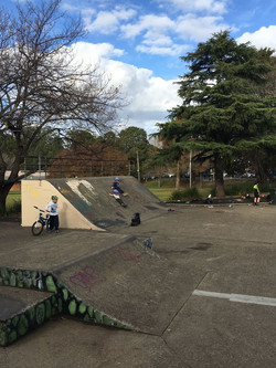 Kid-friendly skate park