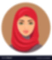 arab-muslim-woman-in-red-hijab-vector-20