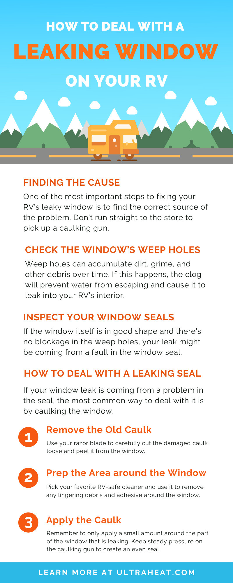 Leaking Window on Your RV