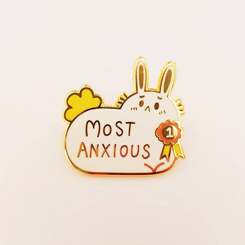 Most Anxious Bunny Enamel Pin