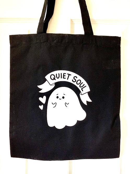 Quiet Soul Ghost Tote Bag