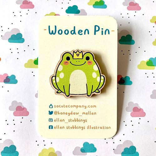 Royal Frog Wooden Pin