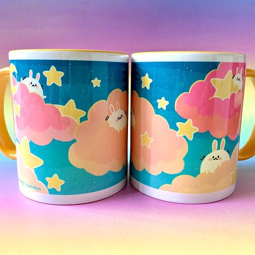 Sky Bunny Mug Cute Illustration Mug