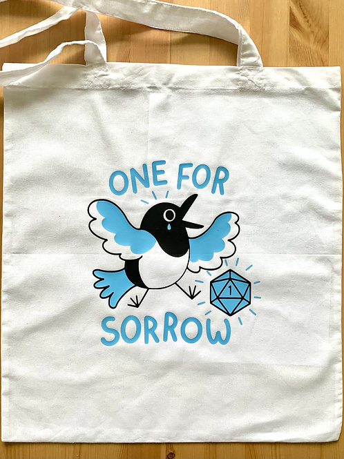 D&D One for Sorrow Magpie Tote Bag
