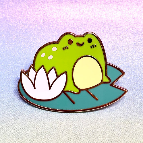 Frog on Lily Pad Enamel Pin