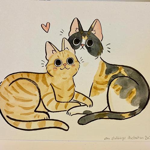 Pet Portrait - Custom Watercolour Painting