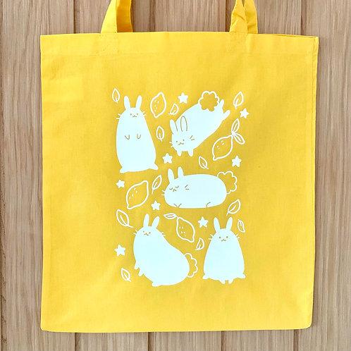 Zesty Bunny Yellow Tote Bag