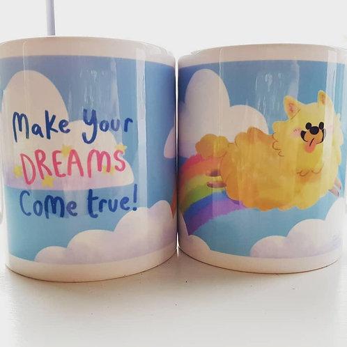 Motivational Pomeranian Mug Cute Illustration Mug
