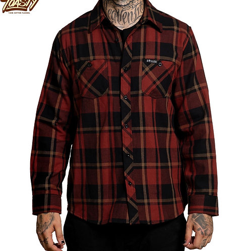 Rosewood Flannel Black/Burgandy