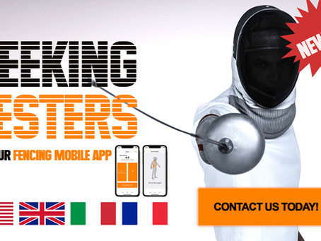 Try our new app for fencers FREE! Become our tester today