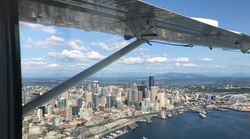 Aerial shot of Downtown Seattle