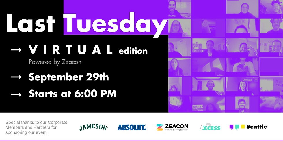 Last Tuesday - September | a (Virtual) YPOSeattle Happy Hour
