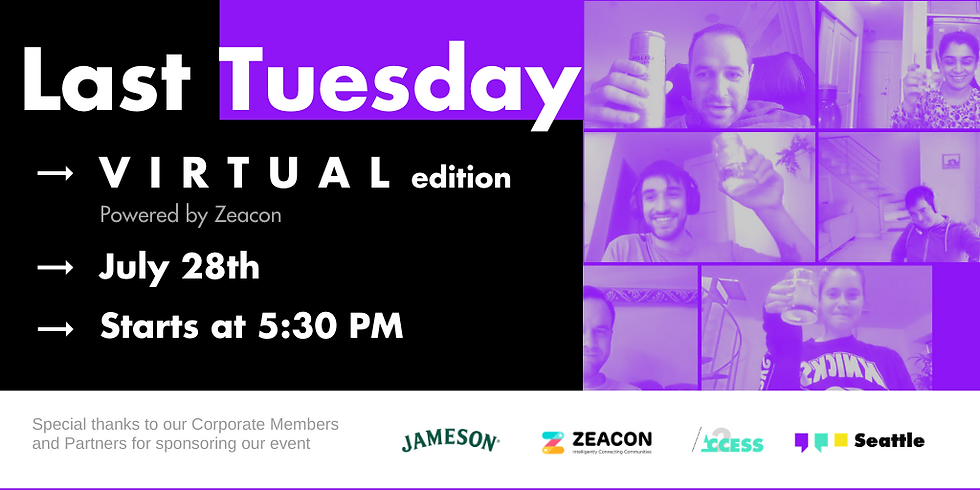 Last Tuesday - August | a (Virtual) YPOSeattle Happy Hour