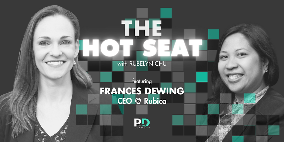 The Hot Seat: Frances Dewing | CEO @ Rubica