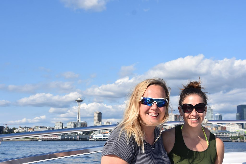 A Seattle Experience_ Parasailing with Parasail Seattle - Lizzie Braicks-Rinker and Jamie Shindler - YP Media