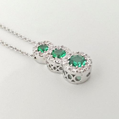 Ciondolo Trilogy Smeraldi e Brillanti